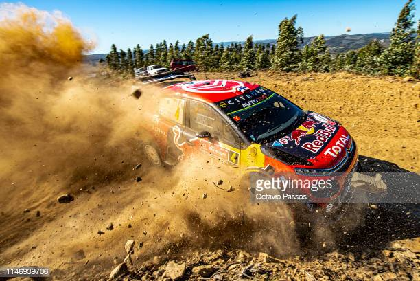 Esapekka Lappi of Finland and Janne Ferm of Finland compete with their Citroen Total WRT Citroen C3 WRC during the shakedown of the WRC Portugal on...