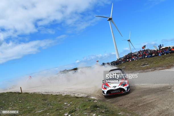 Esapekka Lappi of Finland and Lasse Ferm of Finland compete in their Toyota Gazoo Racing WRT Toyota Yaris WRC during Day One of the WRC Portugal on...