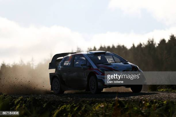 Esapekka Lappi of Finland and Toyota Gazoo Racing WRT drives with codriver Janne Fern of Finland during day one of the FIA World Rally Championship...