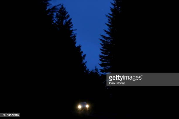 Esapekka Lappi of Finland and Toyota Gazoo Racing WRT drives with codriver Janne Fern of Finland during day two of the FIA World Rally Championship...
