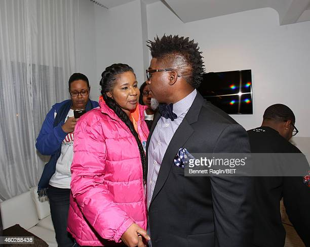 Esaw Garner and David Banner attend Justice For UsBET Town Hall Live at BET studio on December 10 2014 in New York City