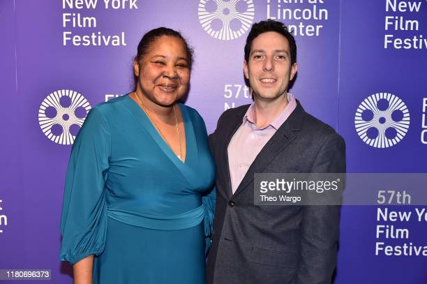 Esaw Garner and director Roee Messinger attend the 57th New York Film Festival American Trial The Eric Garner Story at Walter Reade Theater on...