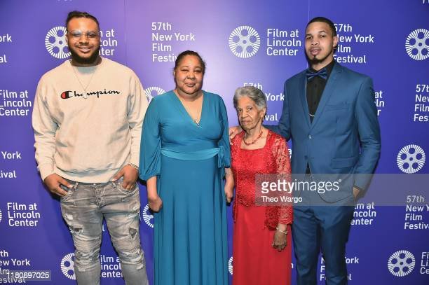 Esaw Garner and the Garner family attend the 57th New York Film Festival American Trial The Eric Garner Story at Walter Reade Theater on October 12...