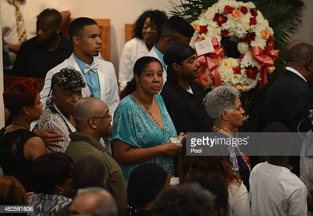 Esaw Garner attends the funeral service for her husband Eric Garner held at Bethel Baptist Church on July 23 2014 in the Brooklyn borough of New York...