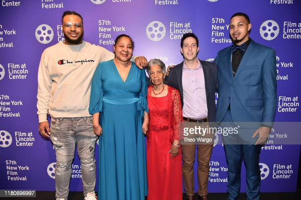 Esaw Garner Roee Messinger and the Garner family attend the 57th New York Film Festival American Trial The Eric Garner Story at Walter Reade Theater...