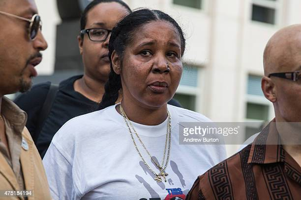 Esaw Garner wife of Eric Garner joins protesters demanding further action against the police officers responsible in the death of Eric Garner outside...