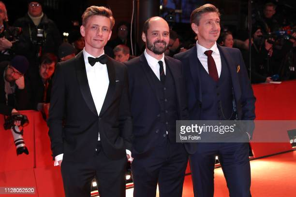 Esben Smed Jensen David Dencik and Nicolaj Kopernikus attend the opening ceremony and The Kindness Of Strangers premiere during the 69th Berlinale...