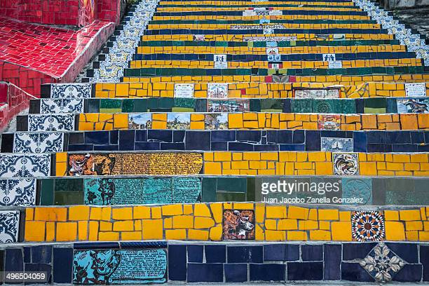 Escadaria Selarón is a set of world-famous steps in Rio de Janeiro, Brazil. They are the work of Chilean-born artist Jorge Selarón who claimed it as...