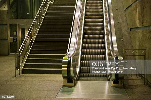 escalator and stairway