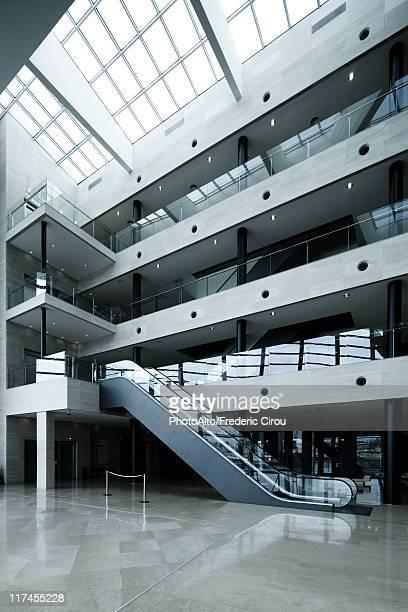 Escalator in atrium