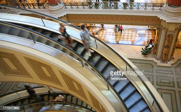 Escalator In Indoor Shopping Mall