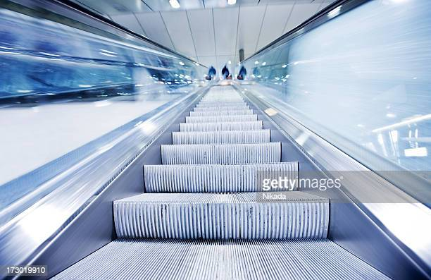 escalator in motion