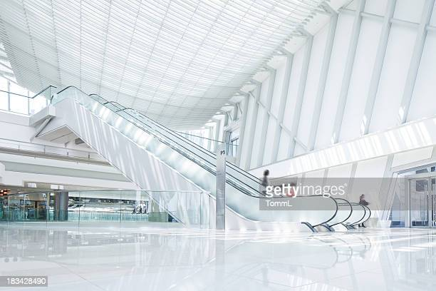 escalator - shopping mall stock pictures, royalty-free photos & images