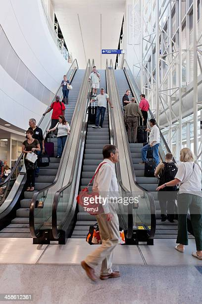 dfw escalator - dallas fort worth airport stock pictures, royalty-free photos & images