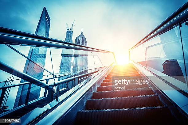 escalator to modern city