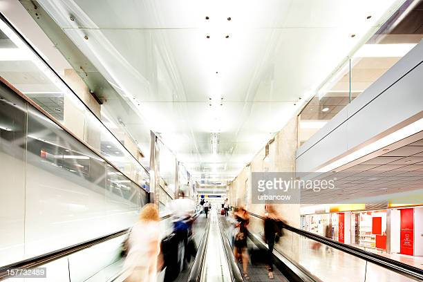 Escalators in a shopping centre