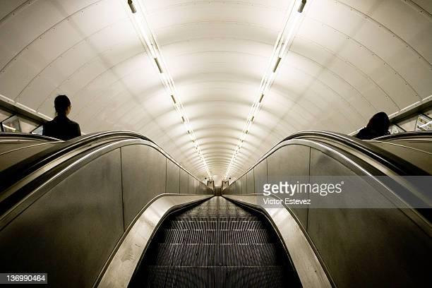 Escalators in London underground