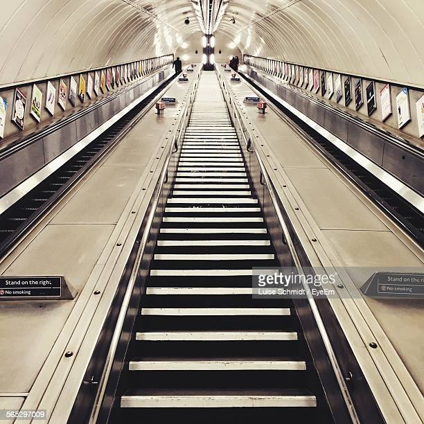 Escalators In Subway