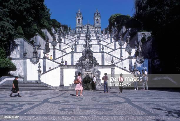 Escaliers du sanctuaire du Bon Jésus du Mont à Braga Portugal