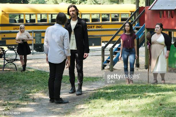 THE MAGICIANS Escape from the Happy Place Episode 405 Pictured Olivia Taylor Dudley as Alice Hale Appleman as Eliot Waugh Stella Maeve as Julia...