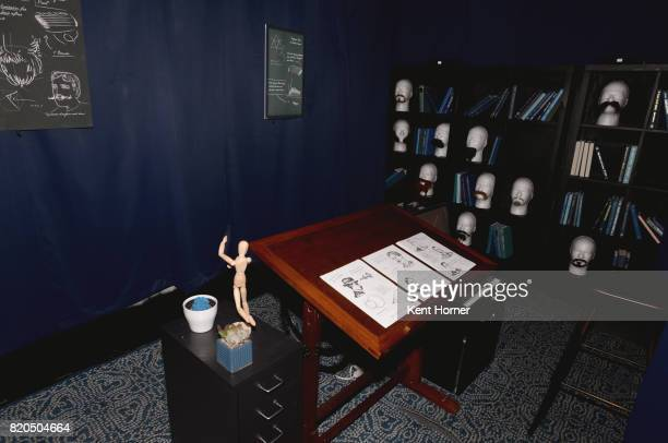 Escape room atmosphere seen at the Schick Hydro Escape Experience at The Interactive Zone at Petco Park on July 21 2017 in San Diego California