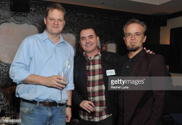 'Escape Room' screenwriter Bragi Schut 'The Amityville Murders' screenwriter Daniel Farrands and Ken Pisani attend WGAW's 'Behind The Screen' Winter...