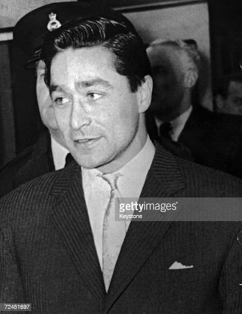 Escaped prisoner Dennis Stafford at Waterloo Station London on his way back to Dartmoor Prison 23rd February 1959 Stafford had escaped on 5th January...