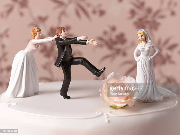 escaping bride groom  - falsenews stock pictures, royalty-free photos & images