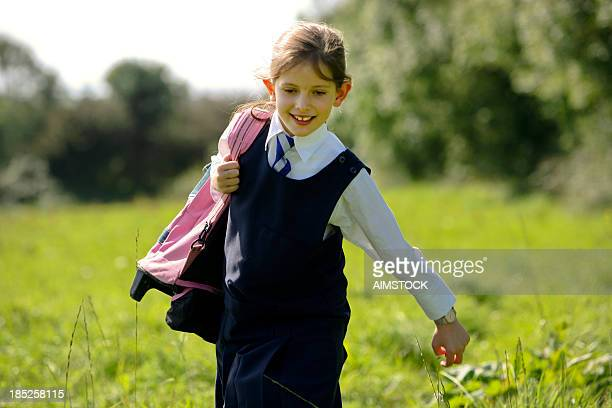 escaping from school - school uniform stock pictures, royalty-free photos & images
