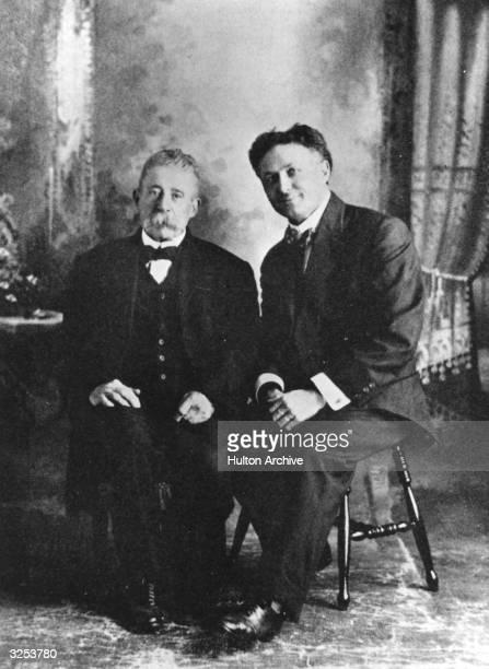 Escapologist Harry Houdini with fake medium Ira Davenport