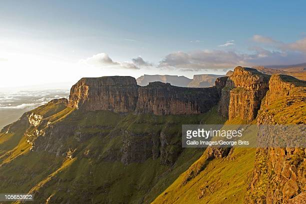 Escarpment above Bannerman Face, Drakensberg, KwaZulu Natal Province, South Africa.