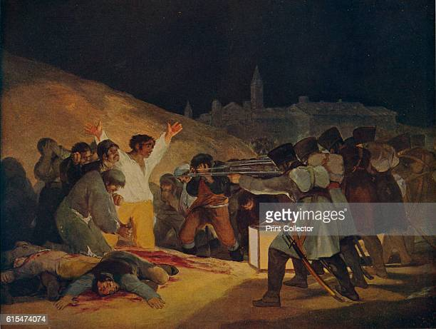 Escenas Del 3 De Mayo De 1808' The executions of patriots in Madrid illustrating the capture and struggle of the Spanish people against French...
