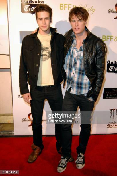 Escher Holloway and Grant Harvey attend OFFICIAL Film WRAPPARTY for Stardust Pictures BFF Baby at The Colony on November 17 2010 in Hollywood...