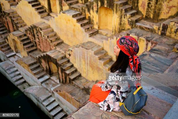 escher in india - abhaneri stock photos and pictures