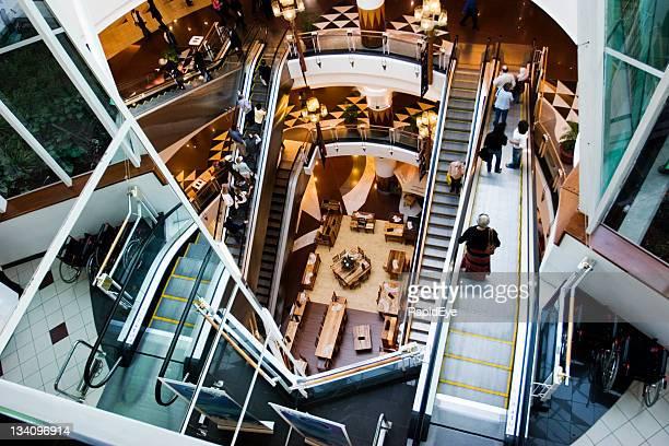 mc escher mall - escalator stock pictures, royalty-free photos & images