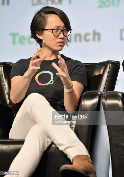 Escher Reality CTO Diana Hu speaks onstage during TechCrunch Disrupt SF 2017 at Pier 48 on September 18 2017 in San Francisco California
