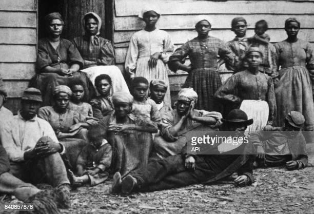 Esclaves d'une plantation en 1862 EtatsUnis