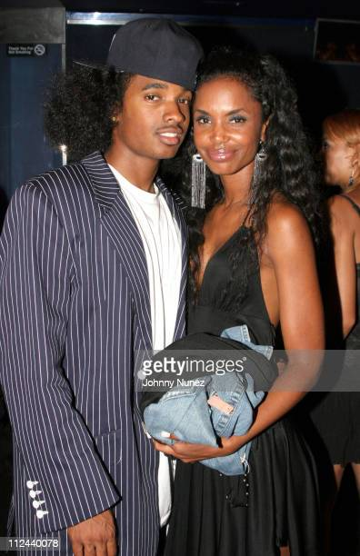 Esco Croswell and Kim Porter during Behind The Scenes Of The Movie 'The System Within' 22 July 2005 at Rasputin in Brooklyn New York United States