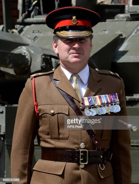 Escort Commander for the Royal Wedding Lt Col James Gaselee during a preview to see The Household Cavalry Mounted Regiment preparations for the...