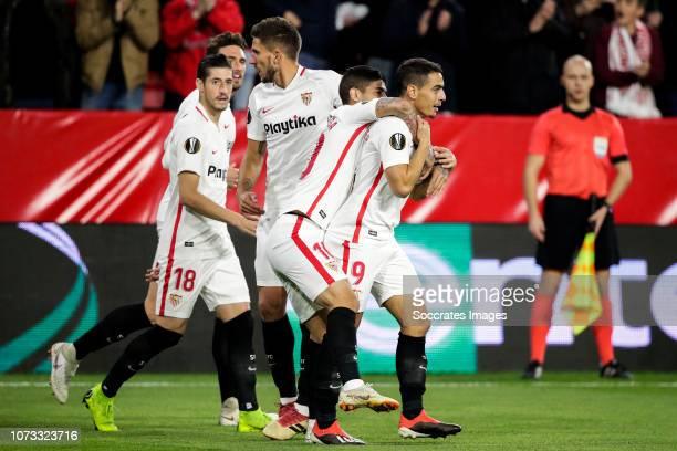 Escudero of Sevilla FC Sergi Gomez of Sevilla FC Franco Vazquez of Sevilla FC Ever Banega of Sevilla FC Wissam Ben Yedder of Sevilla FC during the...
