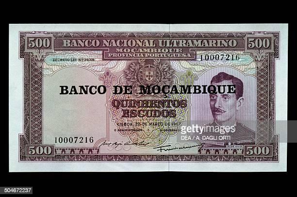 500 escudos banknote 19601969 obverse depicting Alfredo Augusto Caldas Xavier Mozambique 20th century