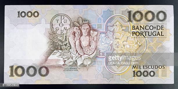 Escudos banknote, 1990-1999, reverse. Portugal, 20th century.