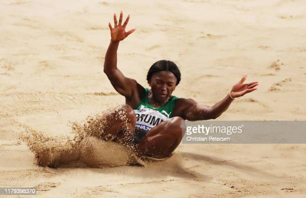 Ese Brume of Nigeria competes in the Women's Long Jump final during day ten of 17th IAAF World Athletics Championships Doha 2019 at Khalifa...