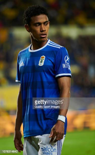 Esgar Barcenas of Real Oviedo during the La Liga 123 match between UD Las Palmas and Oviedo at Estadio Gran Canaria on December 02 2018 in Las Palmas...