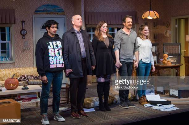 Eshan Bay Frank Wood Amber Tamblyn Darren Pettie and Ella Dershowitz attend the Can You Forgive Her Opening Night at the Vineyard Theatre on May 21...