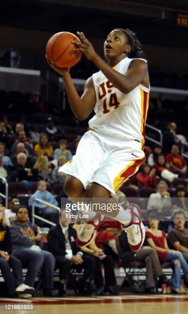 Eshaya Murphy of USC goes up for a layup during 7654 victory over Washington in Pacific10 Conference women's basketball game in Los Angeles Calif on...