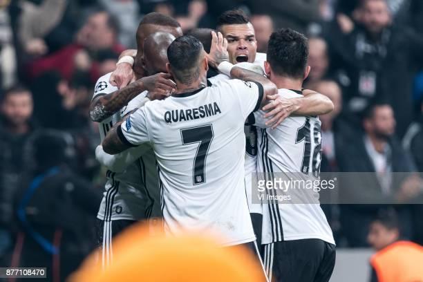 B~esiktas celebrate the goal of Anderson Souza Conceicao of Besiktas JK during the UEFA Champions League group G match between Besiktas JK and FC...