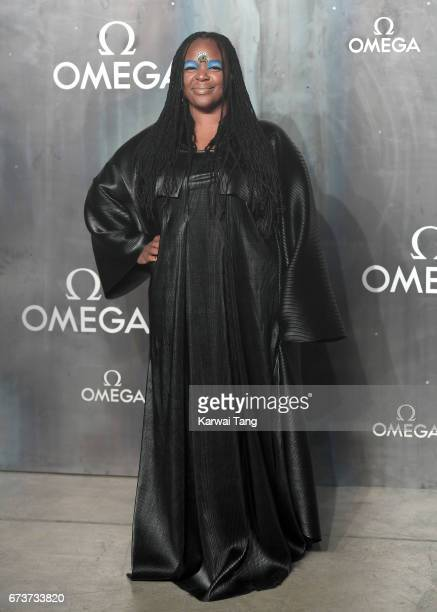 Eska attends the Lost In Space event to celebrate the 60th anniversary of the OMEGA Speedmaster at the Tate Modern on April 26 2017 in London United...