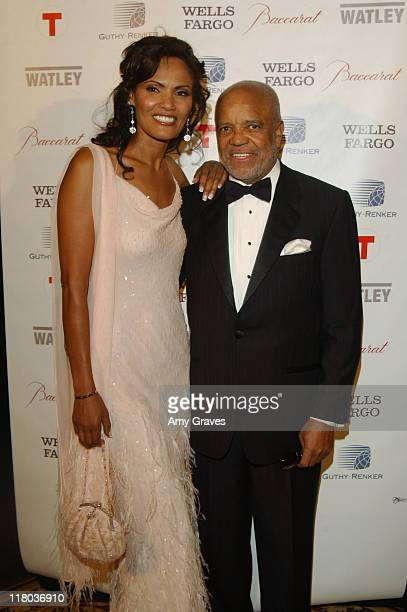Eskedar Gobeze and Berry Gordy at the 2006 Rick Weiss Humanitarian Awards Presented by the Greenburg Family Foundation as a tribute to the late...