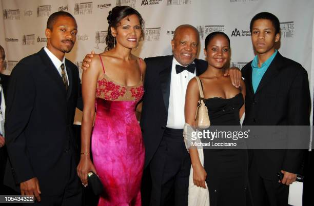 Eskedar Gobeze Berry Gordy and family during The 36th Annual Songwriters Hall of Fame Awards Induction at Marriott Marquis Hotel in New York City New...